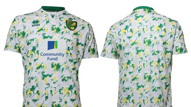 The kit is inspired by Norwich's 1992-94 strip