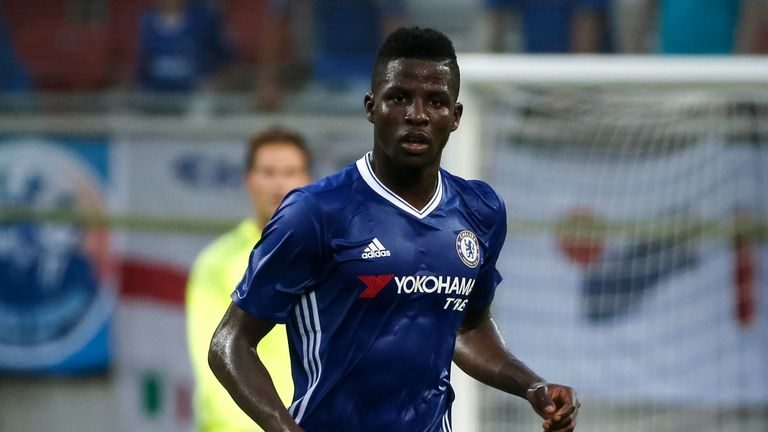 Papy Djilobodji in action during a friendly match for Chelsea