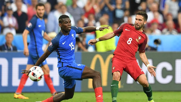 Pogba's France lost 1-0 to Portugal after extra-time in the Euro 2016 final