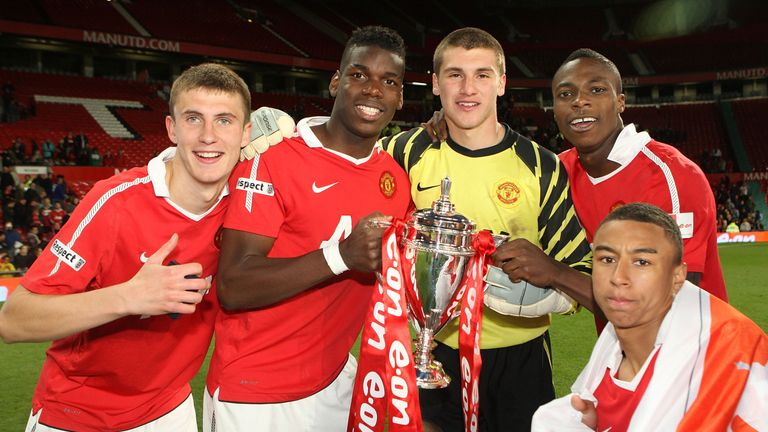 8612dcace Paul Pogba won the FA Youth Cup with Manchester United s U18s in 2011