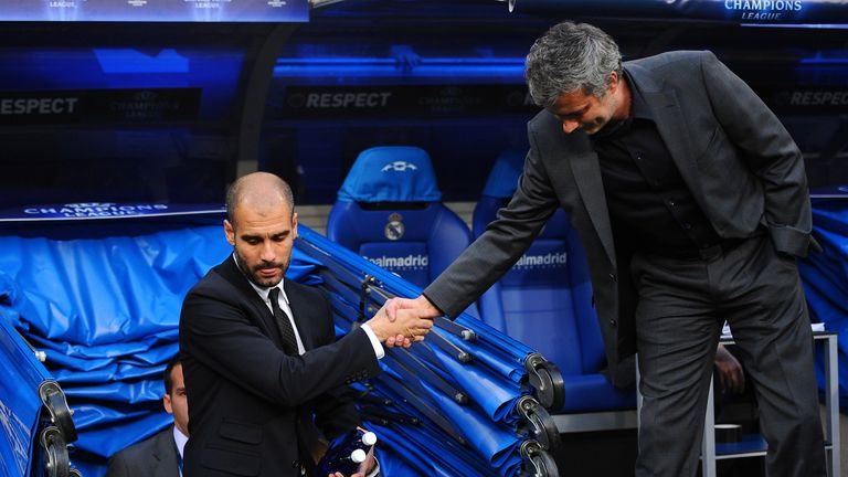 Pep Guardiola faces Mourinho in their debut Manchester derby
