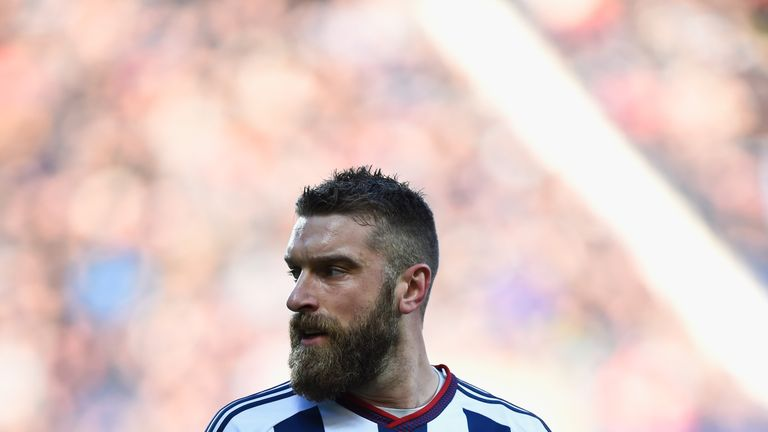 Rickie Lambert playing for West Brom earlier this year