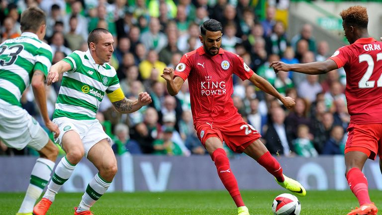 Mahrez opens the scoring for Leicester in their pre-season clash against Celtic