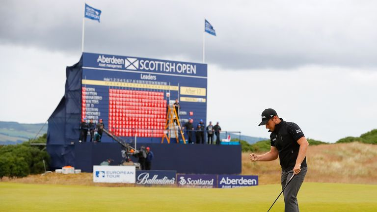 Hatton holed a difficult putt on the 18th green for his third birdie of the day