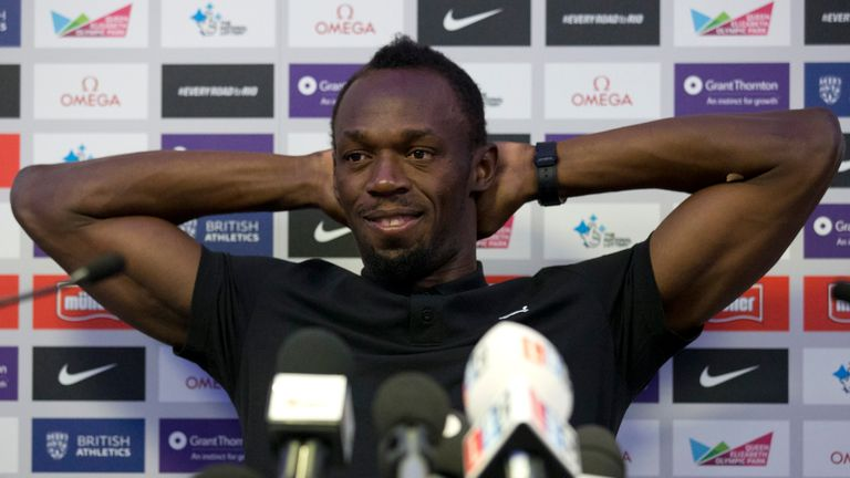 Bolt was speaking at a news conference on Thursday