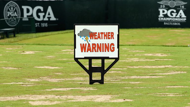The weekend weather at Baltusrol forced officials to start the final round long before the third had ended
