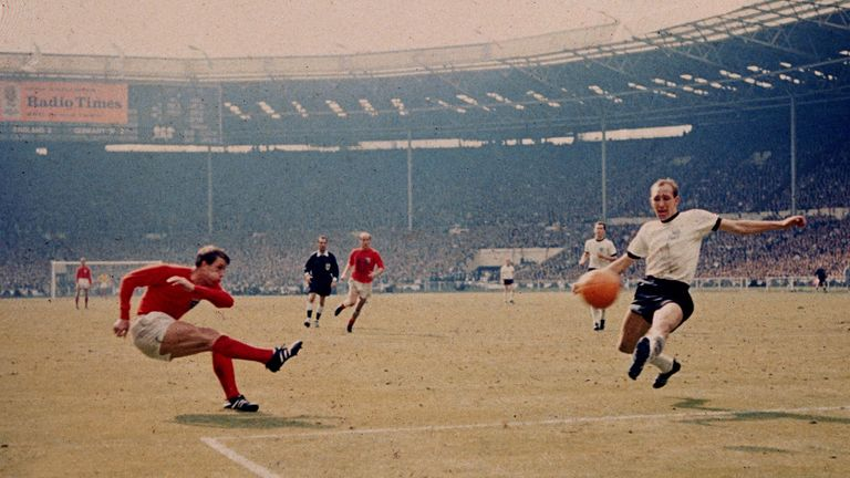 Geoff Hurst scored a hat-trick as England lifted the World Cup on home soil in 1966