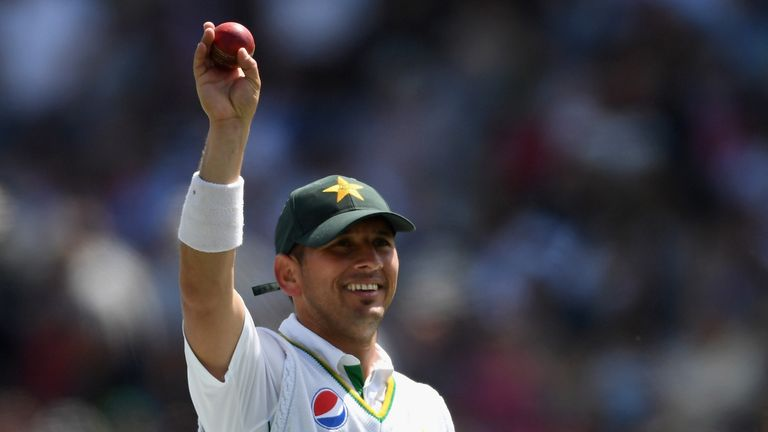Yasir Shah celebrates his six-wicket haul v England in the first Test at Lord's in 2016