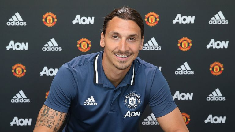 Zlatan Ibrahimovic has completed his move to Manchester United