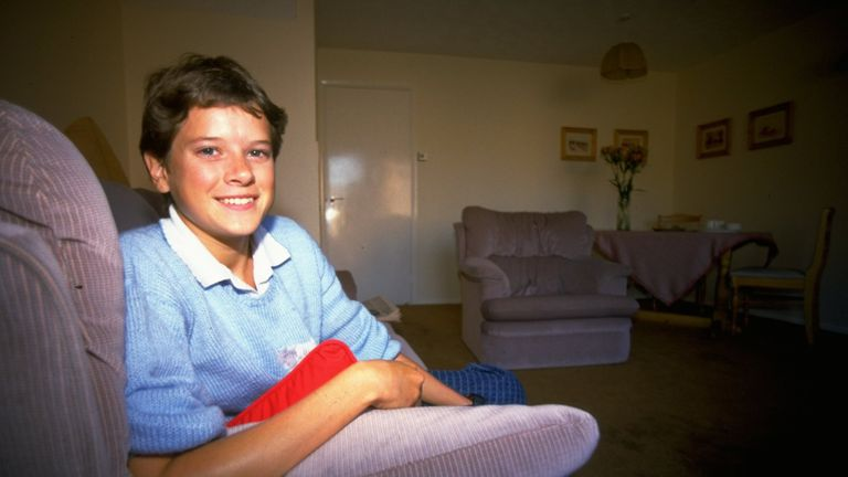 Budd pictured at home in the UK in 1985, the year she broke the world 5000m record as a teenager