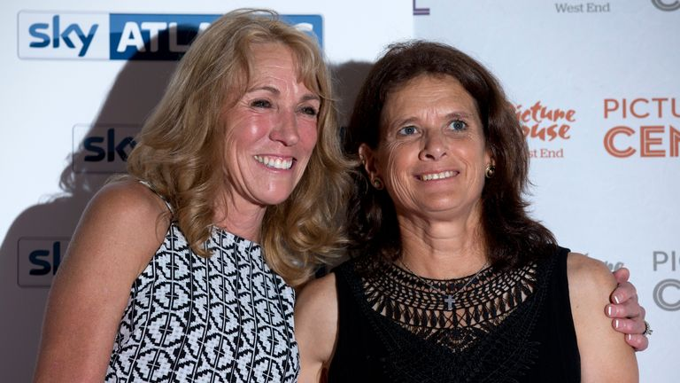 Decker and Budd at Wednesday's premiere of new Sky Atlantic documentary 'The Fall' in London