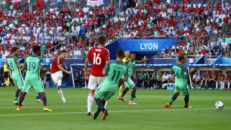 Gera scores the goal that was voted the best of Euro 2016