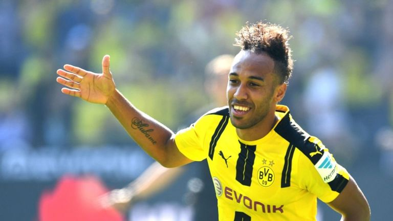 Pierre-Emerick Aubameyang scored twice in Borussia Dortmund's win
