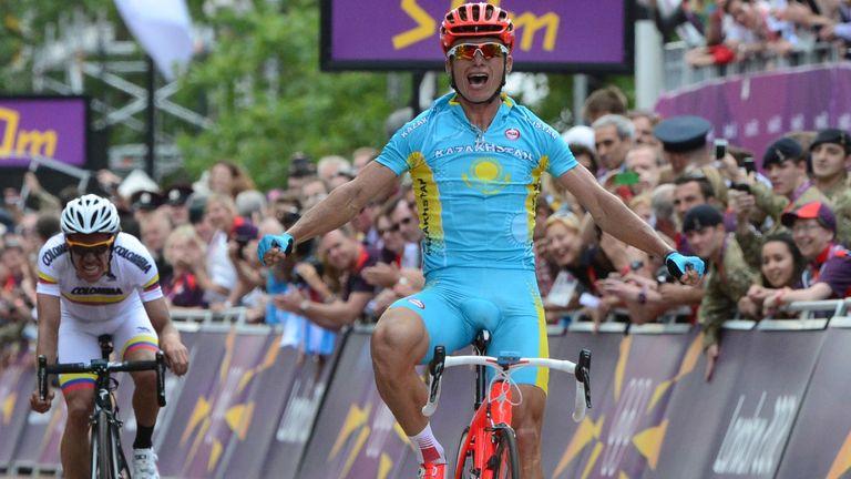 Alexandre Vinokourov won road race gold at London 2012