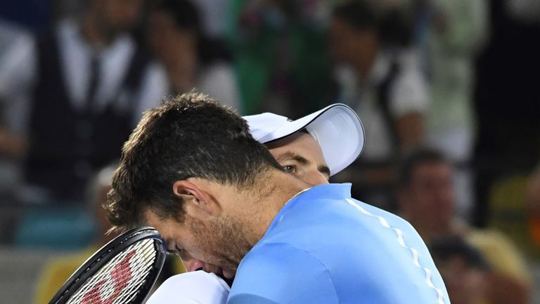 Murray and Juan Martin del Potro slugged it out for four hours and two minutes in the best-of-five set match