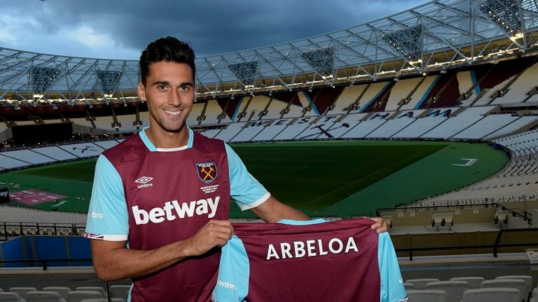 Arbeloa has joined West Ham on a one-year deal (Picture courtesy of West Ham website)