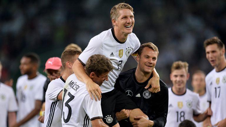 Bastian Schweinsteiger bowed out for Germany