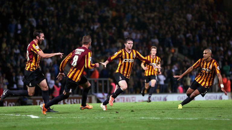 Knott's fine goal against Leeds United endeared him to the Bradford fans