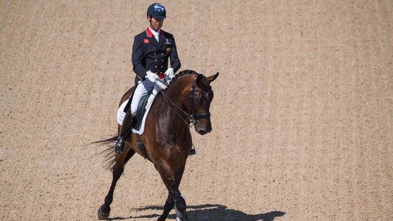 Carl Hester battled back from an early issue on Nip And Tuck
