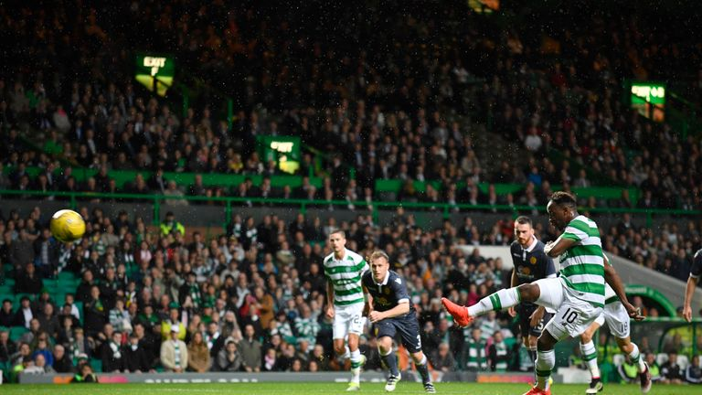 Moussa Dembele fires Celtic 2-0 ahead from the penalty spot
