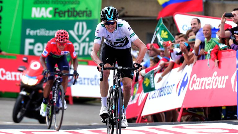 Froome produced his best performance of the race so far