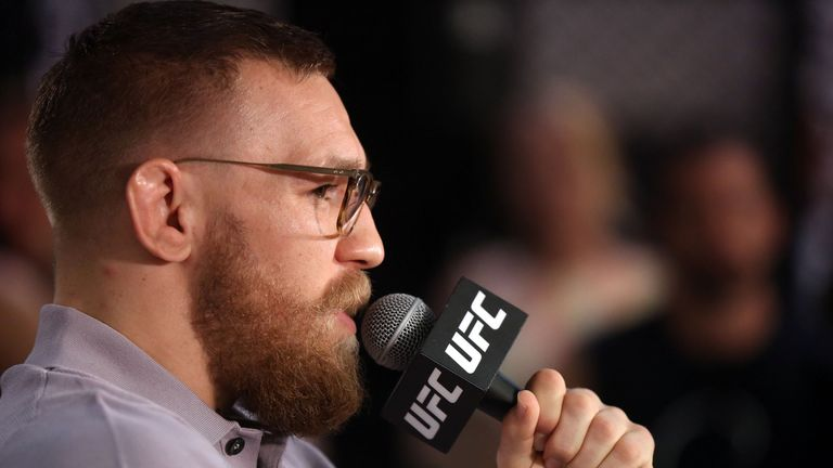 Conor McGregor hurled bottles and cans at Nate Diaz at farcical Vegas press conference