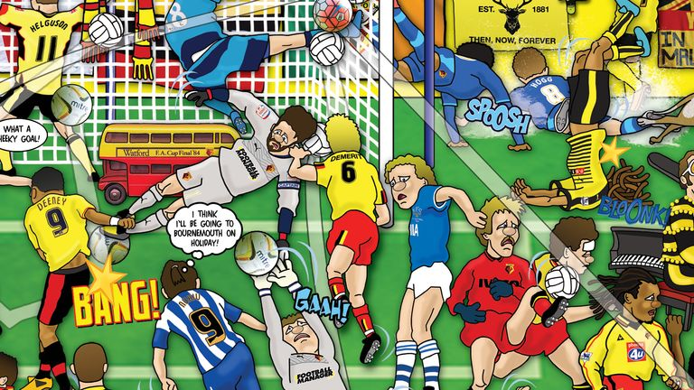 A close up of the Watford Mishmash, an artwork by Alex Bennett