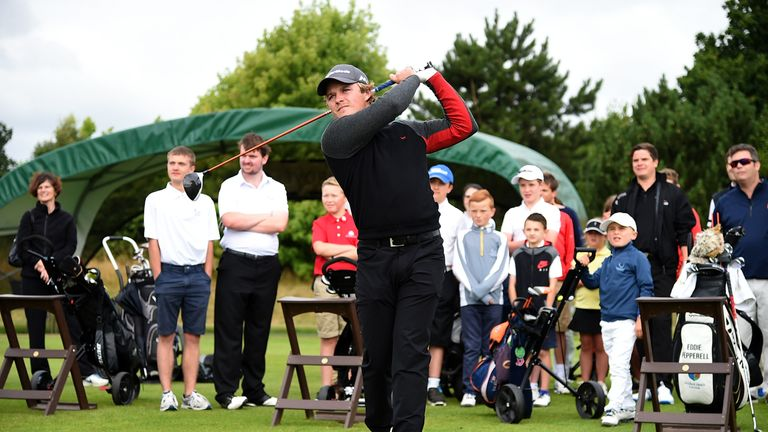 Eddie Pepperell visited The Grove to launch the official charity, Golf Foundation, for this year's British Masters