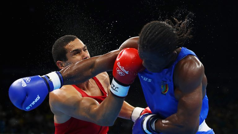 Hassan Ndam Njikam (right) was another pro shocked in Rio