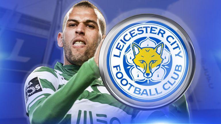 Islam Slimani has joined Leicester for a club-record fee