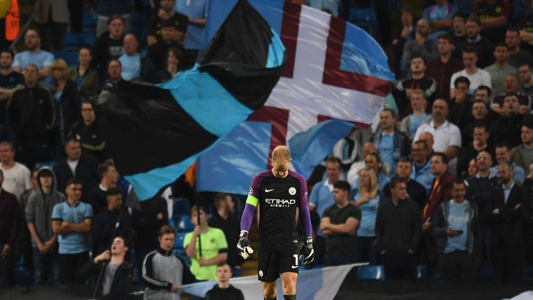 Hart walks off the field at the end of what could be his final game for the club