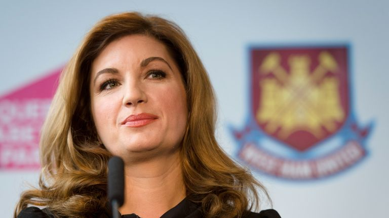 Karren Brady says Premier League clubs are prepared to play games in July in order to finish the season