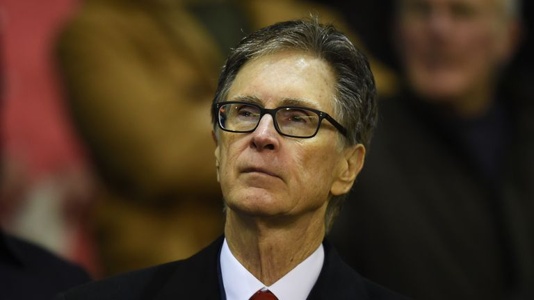 Liverpool owner John W. Henry was spotted at the Nou Camp on Sunday night