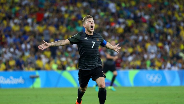 Schalke midfielder Max Meyer levelled the gold-medal final in the second half.