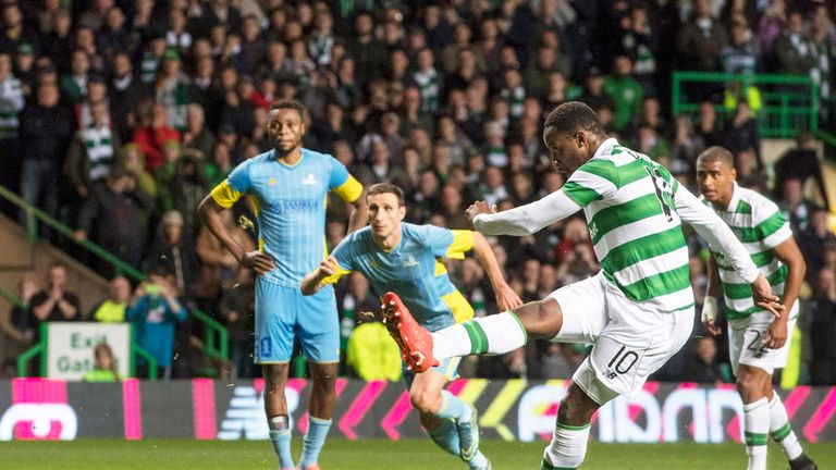 Celtic striker Moussa Dembele nets a stoppage-time penalty  to eliminate Astana