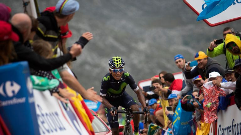 Nairo Quintana took the race lead by winning stage 10