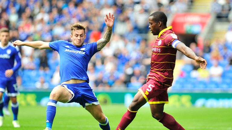 Nedum Onuoha is put under pressure by Joe Ralls