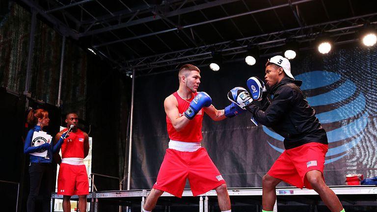 Team USA boxers Shakur Stevenson (R) and Nico Hernandez are still in