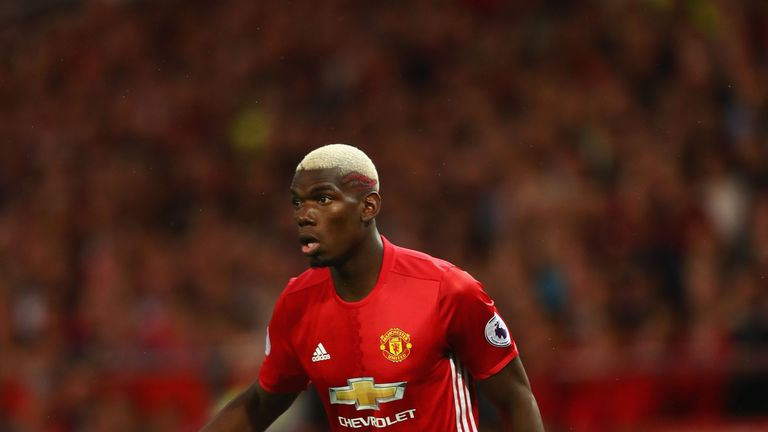 Paul Pogba is one Schweinsteiger's rivals for the central midfield position