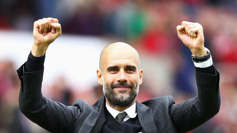 Pep Guardiola is a happy man after securing his long-term target