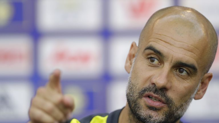 Pep Guardiola is preparing for his first season in charge of Manchester City