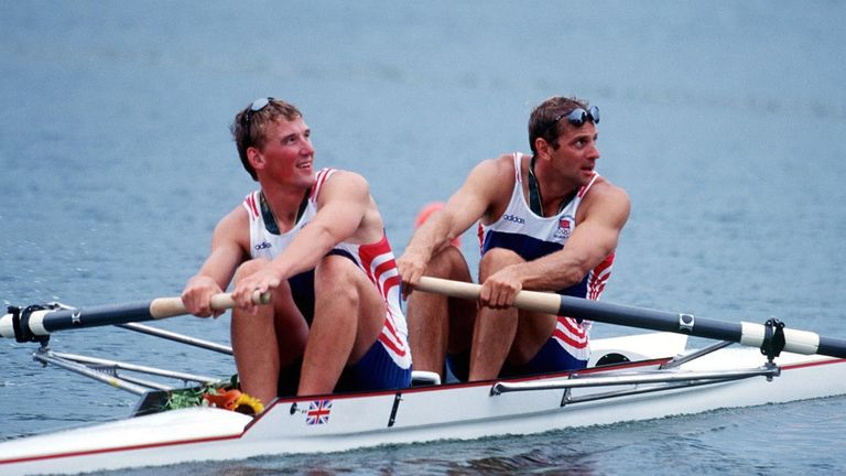 Steve Redgrave and Matthew Pinsent won GB's only gold at Atlanta in 1996