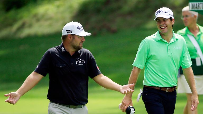 Ryan Moore and Ben Martin were part of the final group on Sunday