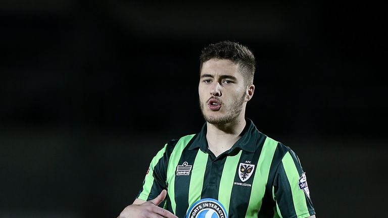 Stoke have had a bid accepted for AFC Wimbledon's Ryan Sweeney