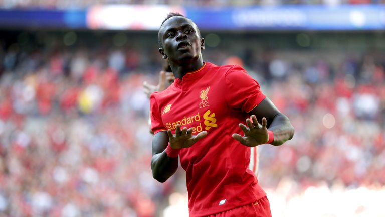 Sadio Mane could make his Liverpool Premier League debut against Arsenal on Super Sunday