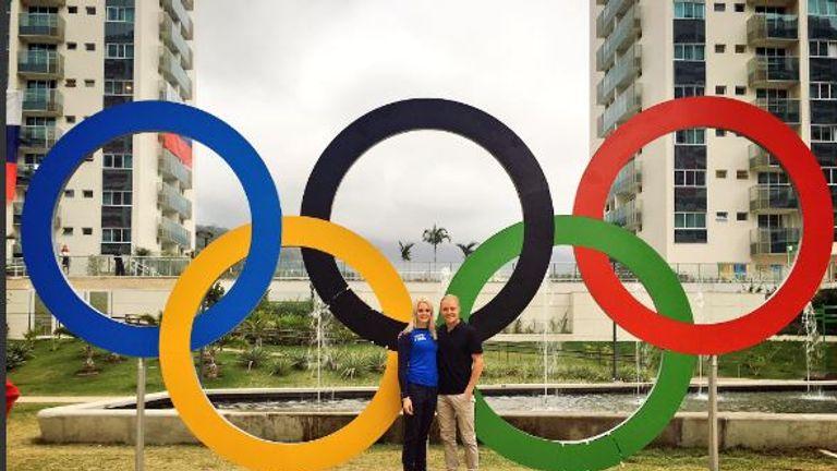 Valtteri Bottas: 'Emilia showed me around Olympic Village today #Rio2016'