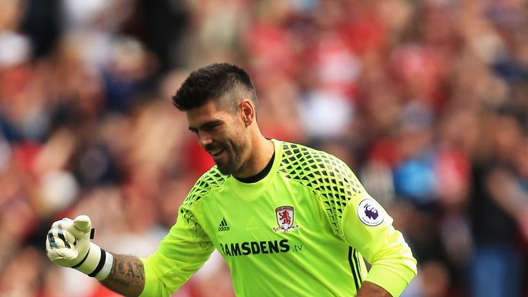 Victor Valdes is happy to be with Middlesbrough