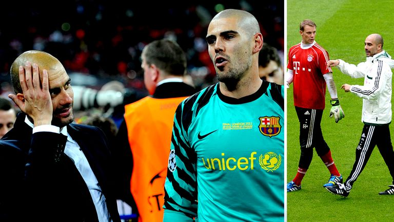 Victor Valdes worked with Pep Guardiola at Barcelona
