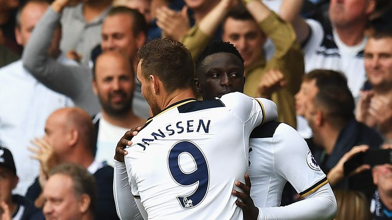 Janssen's home debut for Tottenham ended in victory thanks to Victor Wanyama