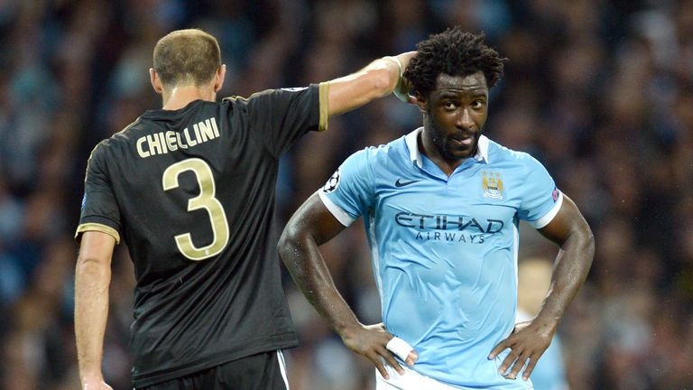 Wilfred Bony has made just 15 Premier League starts in 20 months at City